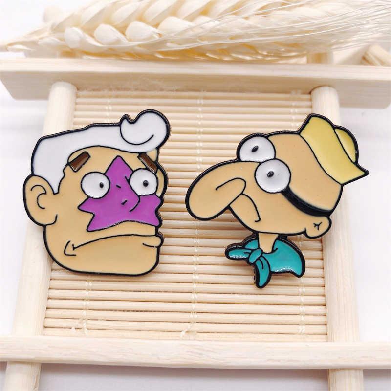 크리 에이 티브 만화 영화 애니메이션 큰 코 캐릭터 에나멜 브로치 합금 배지 티셔츠 가방 핀 액세서리 여성 쥬얼리 선물