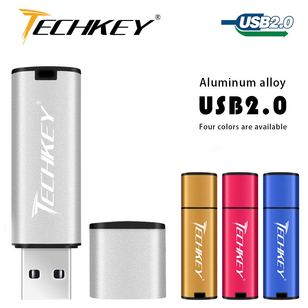 Techkey Usb Flash Drive 32gb Pen Drive 64gb 16gb 8gb 4gb Colorful Flash Disk Cle Usb Storage Device High-Speed Memory Stick
