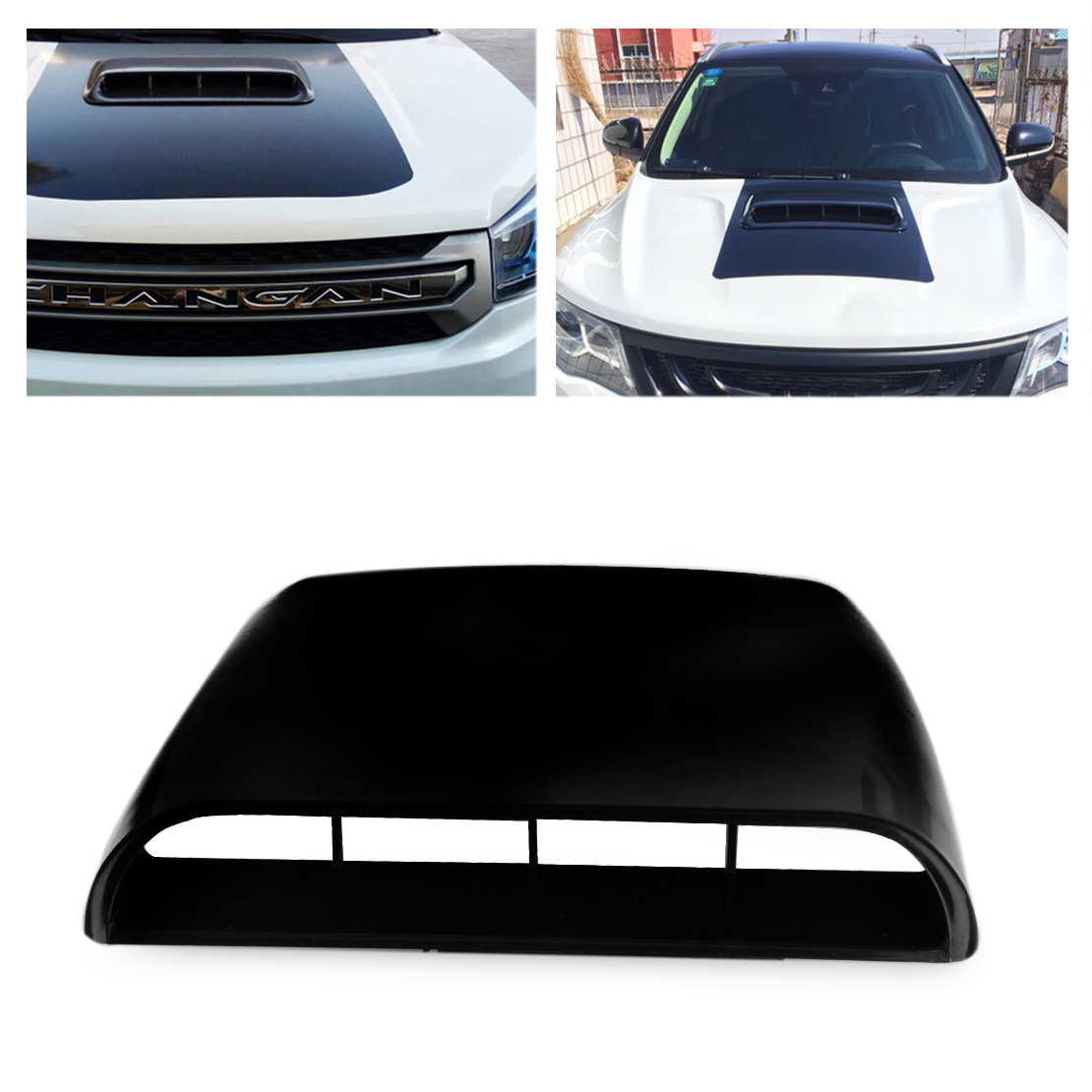 CITALL Car-styling Universal Air Flow Intake Hood Scoop Vent Bonnet Decorative Cover Decal Black / White / Grey ob 515 universal air flow vent hood covers for car silver pair
