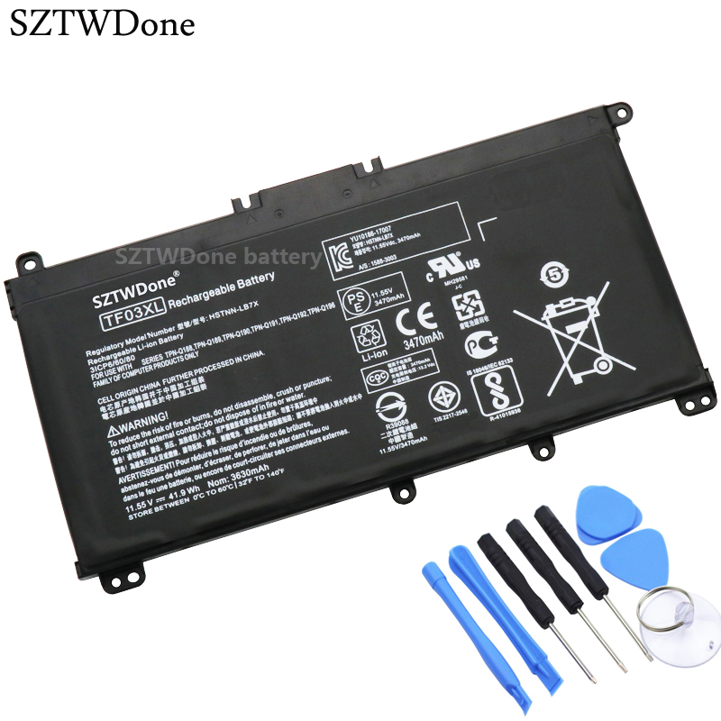 SZTWDone TF03XL Laptop battery For HP 14 bf 15 CC TPN C131 HSTNN LB7X HSTNN LB7J HSTNN UB7J HSTNN IB7Y 920070 855 920046 421-in Laptop Batteries from Computer & Office