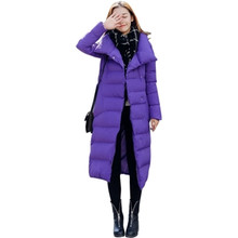 2017 Winter Women New Korean version Thick Long Cotton-padded Jacket Slim Fashion Large Size Hgh-quality Cotton Outerwear OK08