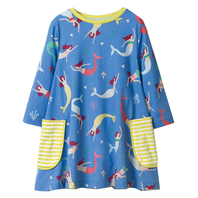 Baby Girls Dress Unicorn Princess Dress Children Clothing Brand Autumn Animal Applique Clothes Kids Dresses for Girls Costumes