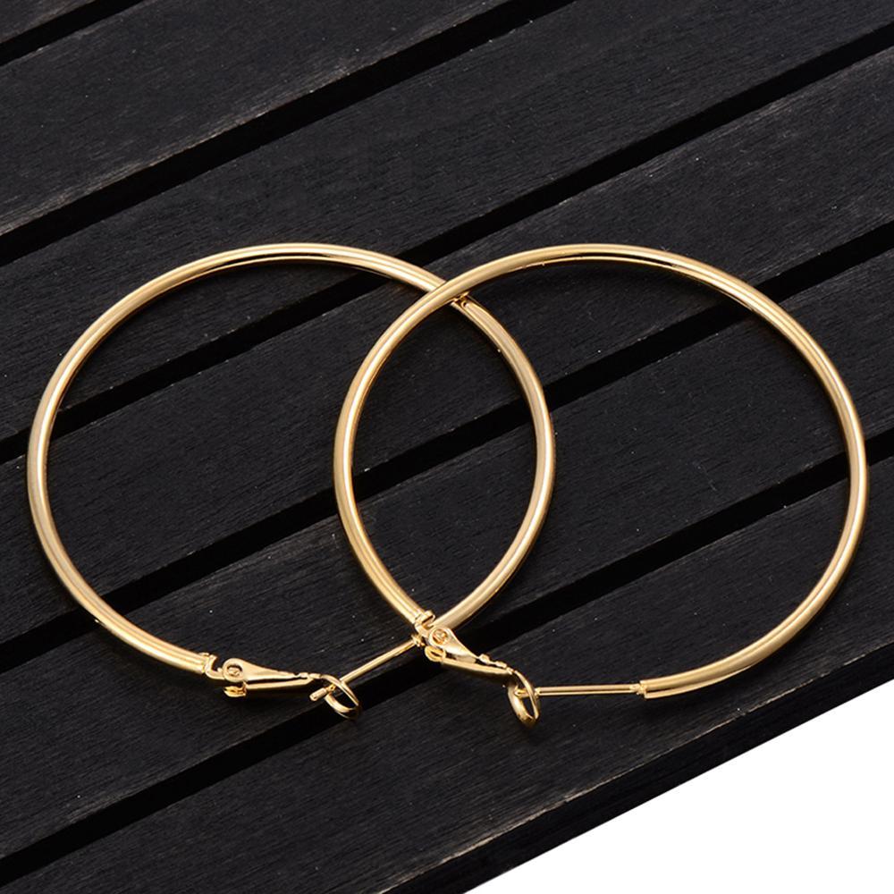 Женские круглые серьги-кольца, Простые Вечерние гладкие серьги-кольца 40 мм 60 мм 70 мм 80 мм, ювелирные изделия