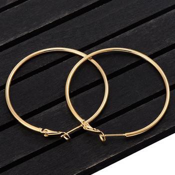 40mm 60mm 70mm 80mm exagérer grand cercle lisse boucles d'oreilles Brincos Simple partie ronde boucle boucles d'oreilles pour femmes bijoux