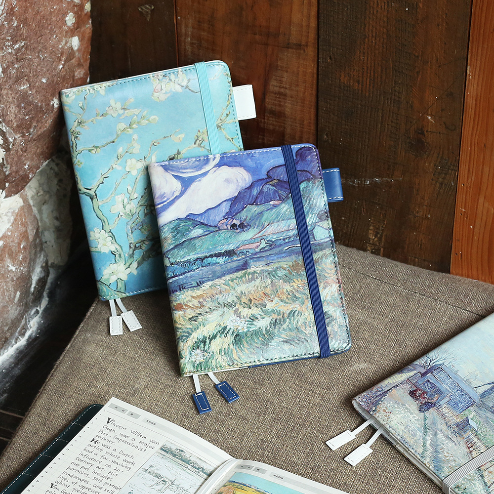 где купить  PU Leather Cover Planner Notebook Van Gogh Travel Journal Diary Book Exercise Composition Binding Note Notepad Gift Stationery  по лучшей цене