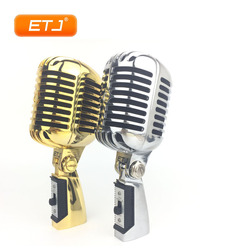 55SH II Retro Microphone Supercardioid Vocal Dynamic Musical Instruments Drum Microphones Silver Gold Metal Recording Mic