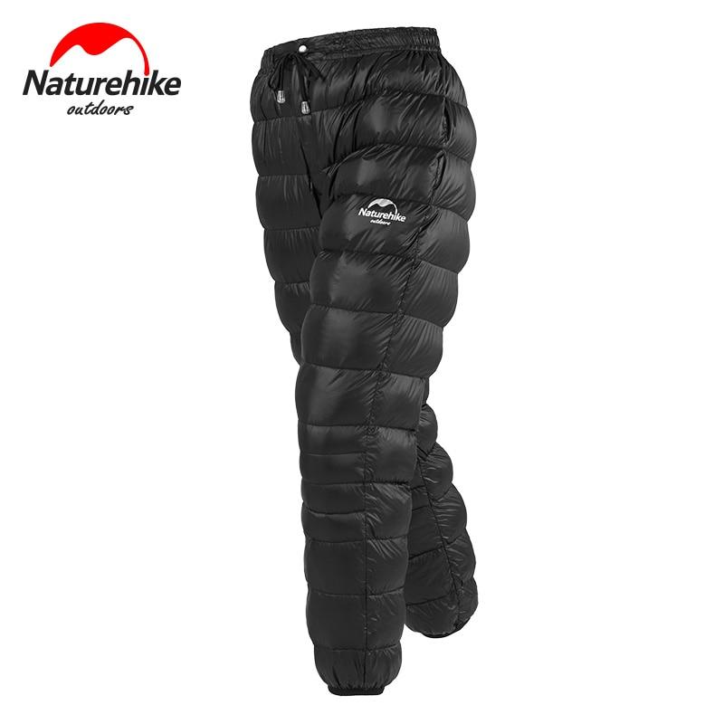Pantalon en duvet d'oie unisexe de plein air naturel randonnée pantalon chaud imperméable Camping pantalon en duvet d'oie NH18K210-K