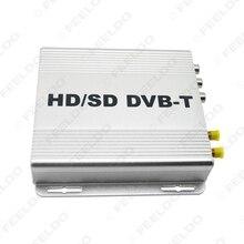 Digital de Doble Sintonizador de HD Del Coche H.264 MPEG-4 HD/SD Varios Canales DVB-T Receptor Móvil CAJA de DVB-T Con PVR USB HDMI # FD-2915