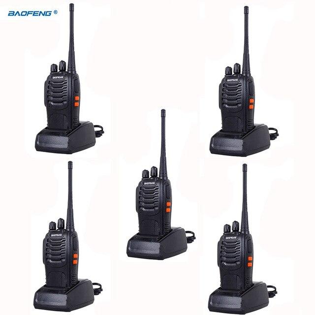 Walkie Talkie 5PCS 5w Two Way Scanner Bf 888s Radio Communicator For Ham Portable Radio Station