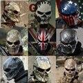 1 шт.  велосипедные маски для лица  пейнтбол  полное лицо  Череп  скелет  CS маска  тактические  дышащие  ветрозащитные  страшные маски для занят...
