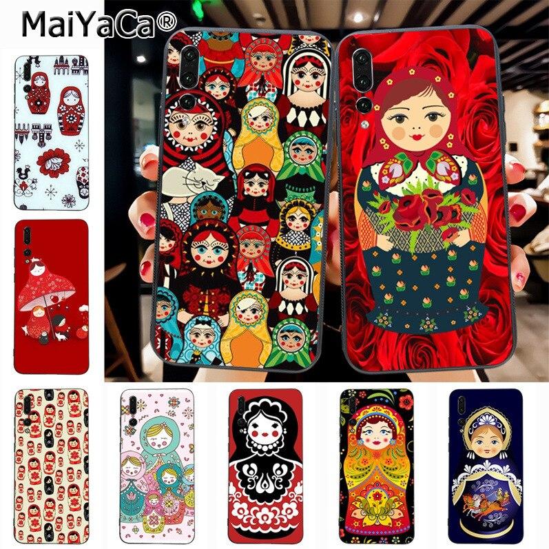 Maiyaca Russian matryoshka Dolls Luxury TPU Rubber Phone Case cover for Huawei P20 P20 pro Mate10 P10 Plus Honor9 cass(China)