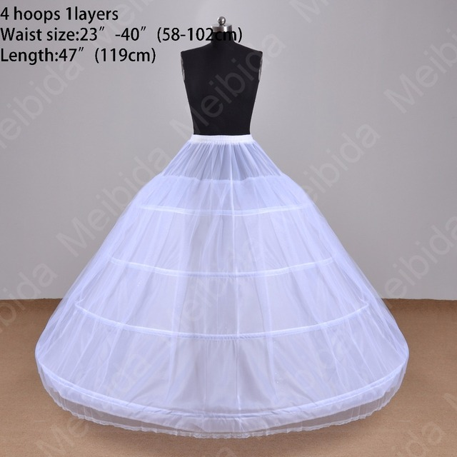 4 Hoops 1 Layers 119cm Picture Color Petticoat For Wedding Dress