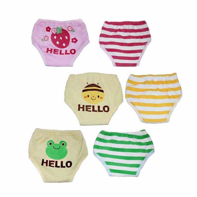 1pcs Reusable Baby Training Pants Cloth Nappy Toddler Kids Girls Boys Panties Newborn Infant Potty Underwear Cheap