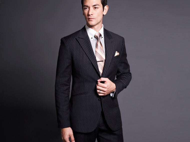 G011 Promotions!! Men's Suit/Men's Casual Slim fit stripe business ...