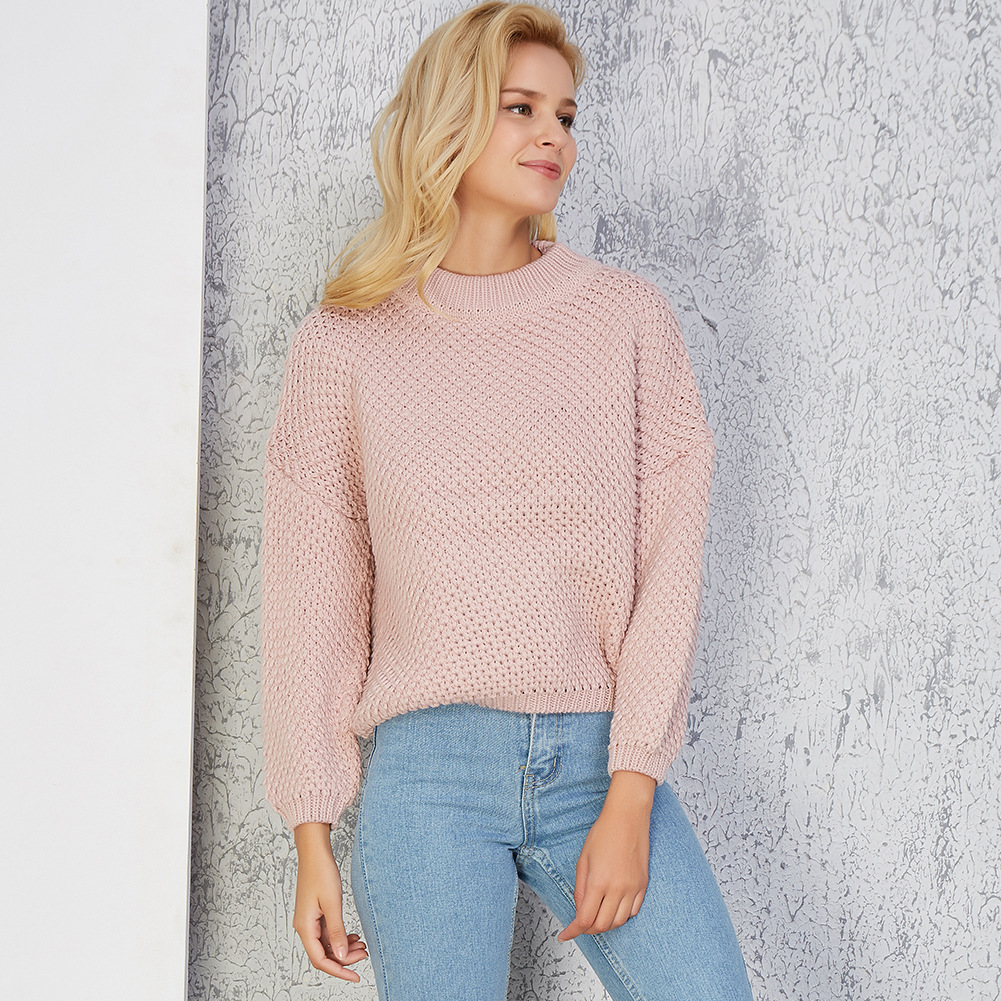 Jumper Sale Poncho Sweater Women 2018 New Pattern Pullover Knitting Unlined Upper Garment Round Neck Sweater Woman Solid Color