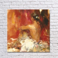 Free Shipping Nice Sexy Nude Women Portrait Painting Hand Painted Canvas Art Large Canvas Paintings