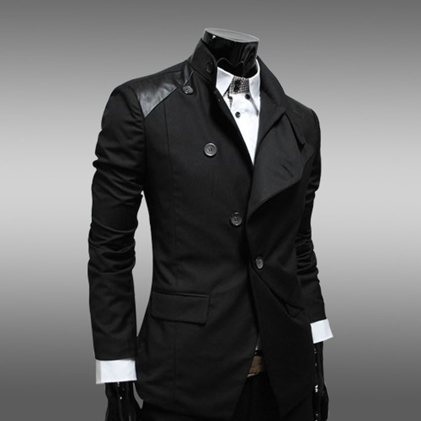 Men Casual Blazers Designer Brand Slim Fit 2015 High
