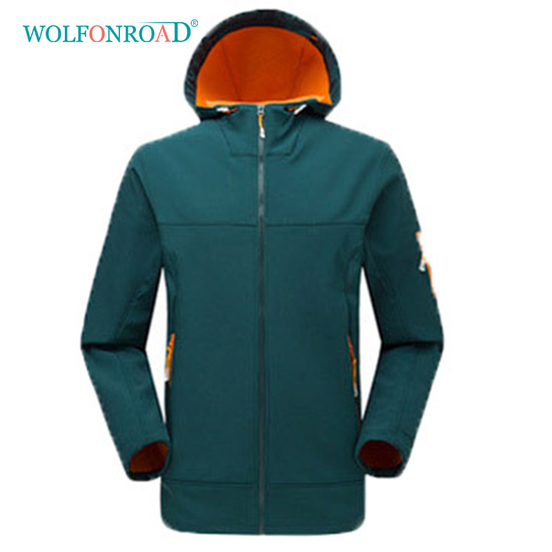 wolfonroad women 2 piece jackets waterproof outdoor sport thermal jacket coat winter hiking camping windbreaker mountain jackets WOLFONROAD Women Men Outdoor Softshell Jacket Hiking Camping Sport Jackets Winter Thermal Fleece Coats Men Windbreaker L-YJ-01