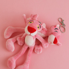 Cartoon Plush Doll Keychain Gift For Women Pink Panther Key chain Creative Birthday Chain Ring