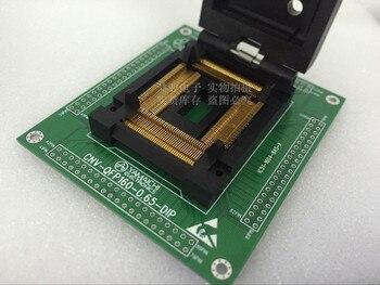 Clamshell QFP160 spacing 0.64mm IC51-1604-845-4 YAMAICHI IC Burning seat Adapter testing seat Test Socket test bench