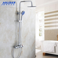 Double Control Shower Shower Type Intelligent Temperature Control Double Thermostatic Shower Copper Body Suit