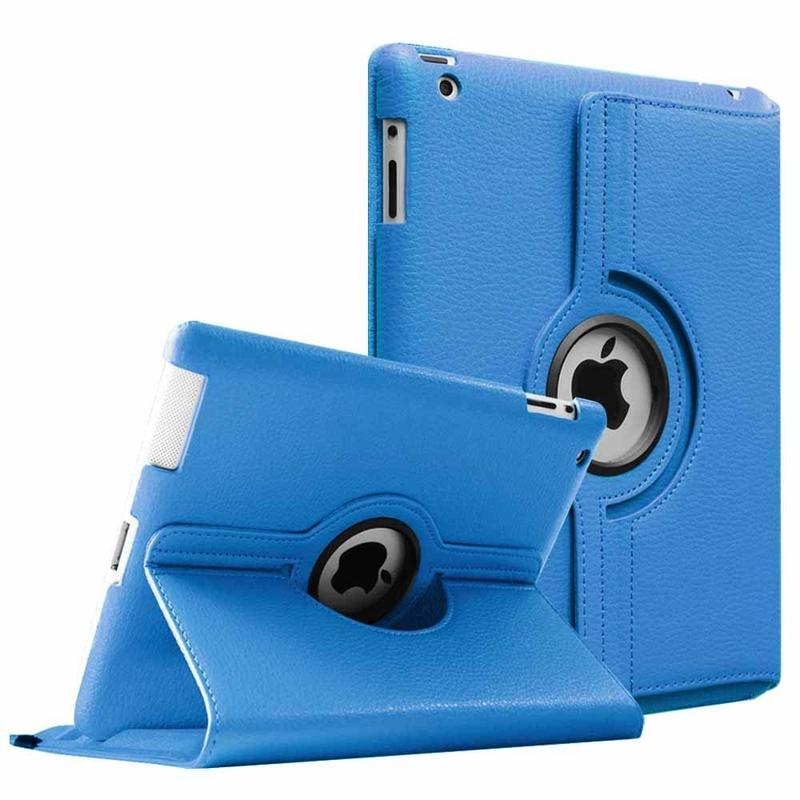 360 Degrees Rotating Cover For Apple Ipad 2 3 4 PU Leather Case For Ipad 2 3 4 Smart Tablet Stand Holder Cases A1397 A1416 A1430