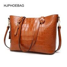HJPHOEBAG  Bag Brand Women Handbags Crocodile Leather Fashion Shopper Tote Bag Female Luxury Shoulder Bags Handbag Bolsa YC030