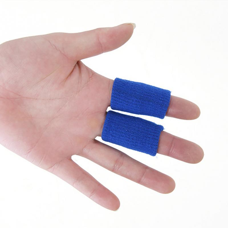 10pcs/lot Breathable Stretchy Finger Protector Sleeve Bandage Support Arthritis Sports Basketball Accessory