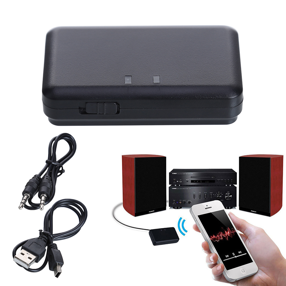 3.5mm Wireless Bluetooth AUX Audio Stereo Music Home Car Receiver Adapter Mic FZ