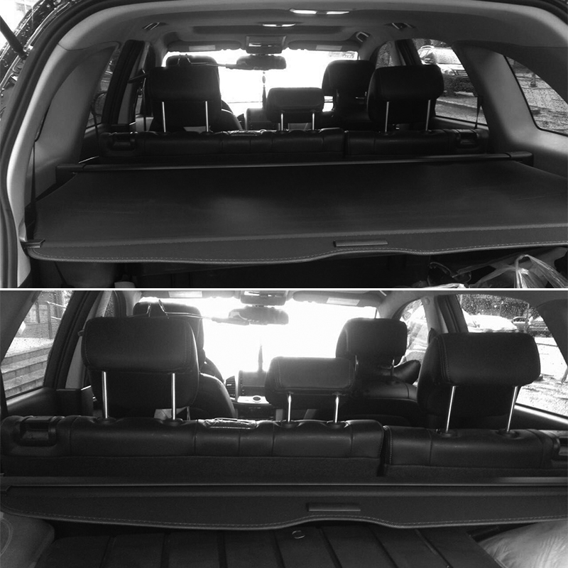 2011 High Quality Aluminum + Canvas Black Rear Cargo Cover Fit For Chevrolet Captiva Seven Seat 2007 2008 2009 2010 2011 car rear trunk security shield cargo cover for ssangyong rexton ii w 2008 2017 high qualit black beige auto accessories