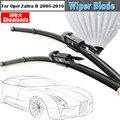 For Opel Zafira B 2005-2016 Car Soft Rubber Window Wiper Blade Auto Bracketless Windshield Antirust 1Pair