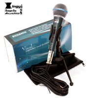 BT58A Professional Switch Dynamic Wired Microphone Stand Desktop Mic Metal Holder For Computer Karaoke BETA 58A With Audio Cable