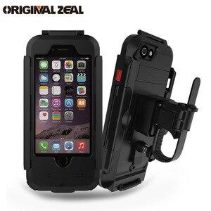 Image 1 - AntiShock Impermeabile Della Bicicletta Supporto Del Telefono Supporto Del Basamento Del Telefono per iPhoneX 8 7 5 s 6 s Moto GPS Holder Supporto telefono Moto