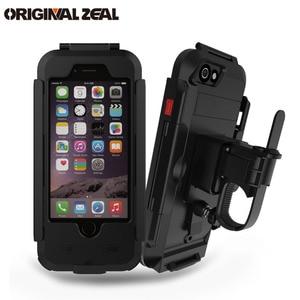 Image 1 - AntiShock Wasserdichte Fahrrad Handyhalter Handyhalter für iPhoneX 8 7 5 s 6 s Motorrad GPS Halter Unterstützung telefon Moto