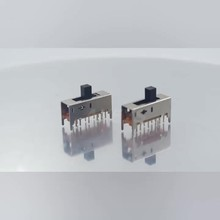 20pcs SS-25D01  Double pole five throw 5 position slide switch 12 pin DIP type with 4 fixed pin handle heights can be customized цены