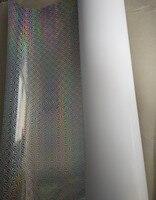 780 мм x 1090 мм снег Серебряный голографическая бумага 100 листов для лазерных принтеров пакет украсить подарок DIY