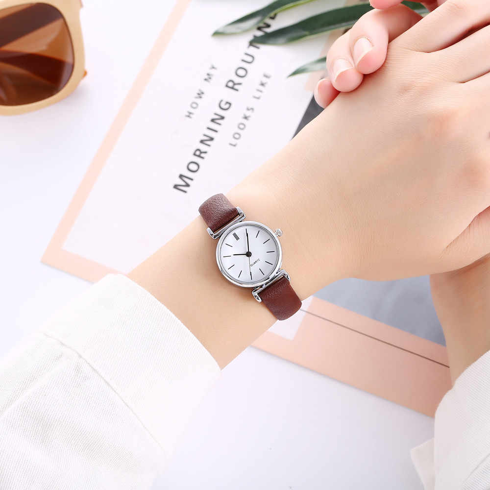 Relogio Feminino 2018 Fashion vansvar Watch Women Casual Quartz Leather Band Newv Strap WristWatch Small Dial Saat Reloj Mujer
