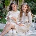 2016 Nuevo Vintage Mujer ropa de Dormir Camisón de La Princesa del Otoño de Las Mujeres de Algodón de Manga Larga camisa de Dormir HomeWear Pijama Real