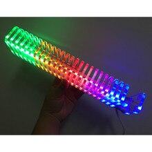 KS25 Controllo del Suono VU Meter di Cristallo Colonna Audio Audio Misuratore di Livello LED Spettro Musicale VU Torre Per Il Teatro Domestico