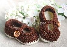 Crochet Baby Booties – Chocolate Brown Baby Girl Booties – Crochet  Shoes – Handmade Fashion Baby Booties