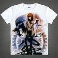 Japão Anime Steins Portão T Shirt dos homens T-shirt Makise Kurisu Cosplay Trajes Dos Desenhos Animados Japoneses t shirts tops