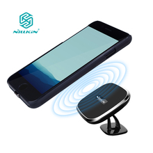 For iPhone 7 for iPhone 7 plus nillkin 360 degree adjustable Qi wireless car charger with magnetic receiver case 4.7 & 5.5