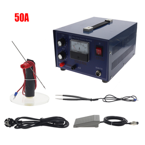Image 1 - DX 50A high power laser spot welder pulse spot welding touch welder welding machine with jewelry equipment