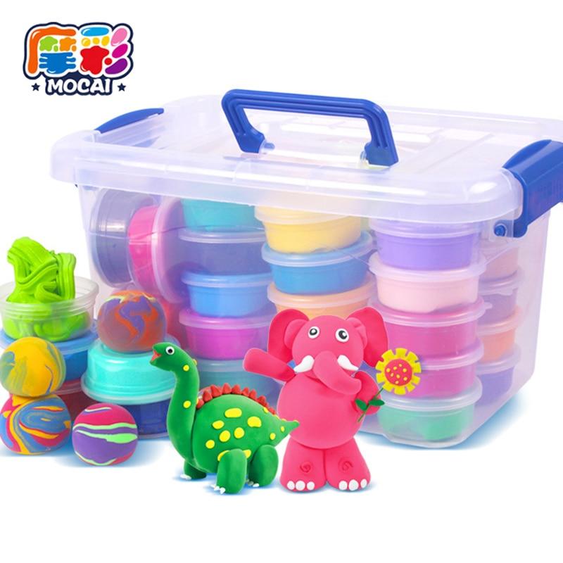 Mocai Clay Smart Handgum nahavärv magnetvõrk 12 kuni 36 värviline kerge savi Mittetoksiline kummist mänguasjad lastele Ultralight