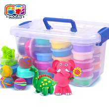 Mocai Clay Smart Handgum Skin Color Magnetic 12 To 36 Color Light Clay Non-toxic Rubber Toys for Children Ultralight
