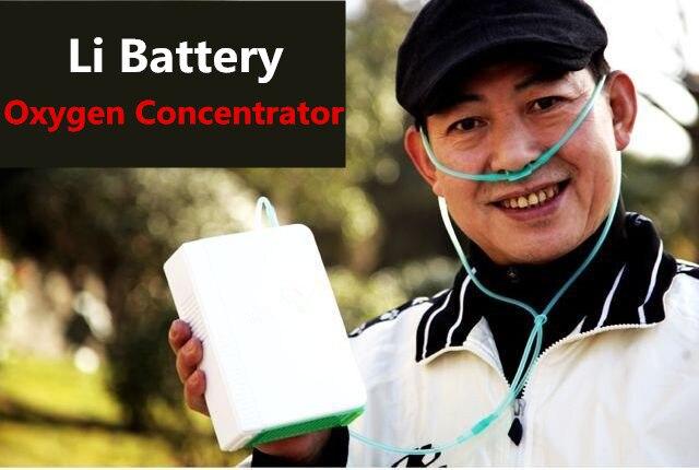 Al litio Li Batteria Concentratore di Ossigeno DC12V Uso di Corsa CE Portatile Generatore di O2 Per Salute e Bellezza Uso di Ossigeno Che Fa La Macchina