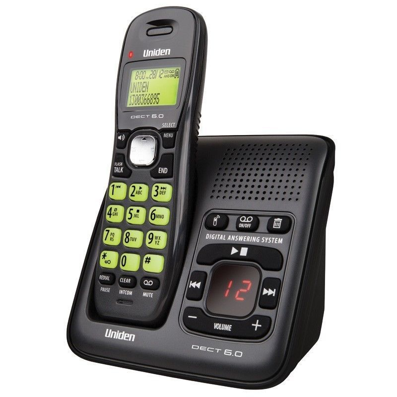 DECT 6.0 Digital Telephone Call ID With Answering System Cordless Telephone Voice Mail Telefono ...
