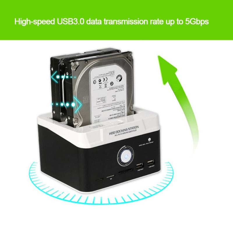 Hard Disk HDD Docking Multi-functional External USB3.0 Hard Drive Dock Base 2.5 inch 3.5inch SATA IDE Hard Disk HDD Docking 2 5 3 5 ide sata usb 2 0 dock hub dual hdd hard drive disk docking station base support hard disk drive 6tb hard drivecapacity