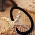 1 pcs Lovely Fashion Starfish Cabelo Corda Elástica Do Cabelo da Faixa de Borracha SP05