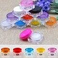 YCDC 10 UNIDS/LOTE 5G Colorido Tarro Poner Crema, Empty Plastic Cosmetic Container, frasco transparente, pequeña Muestra de Maquillaje de uñas polvo caso